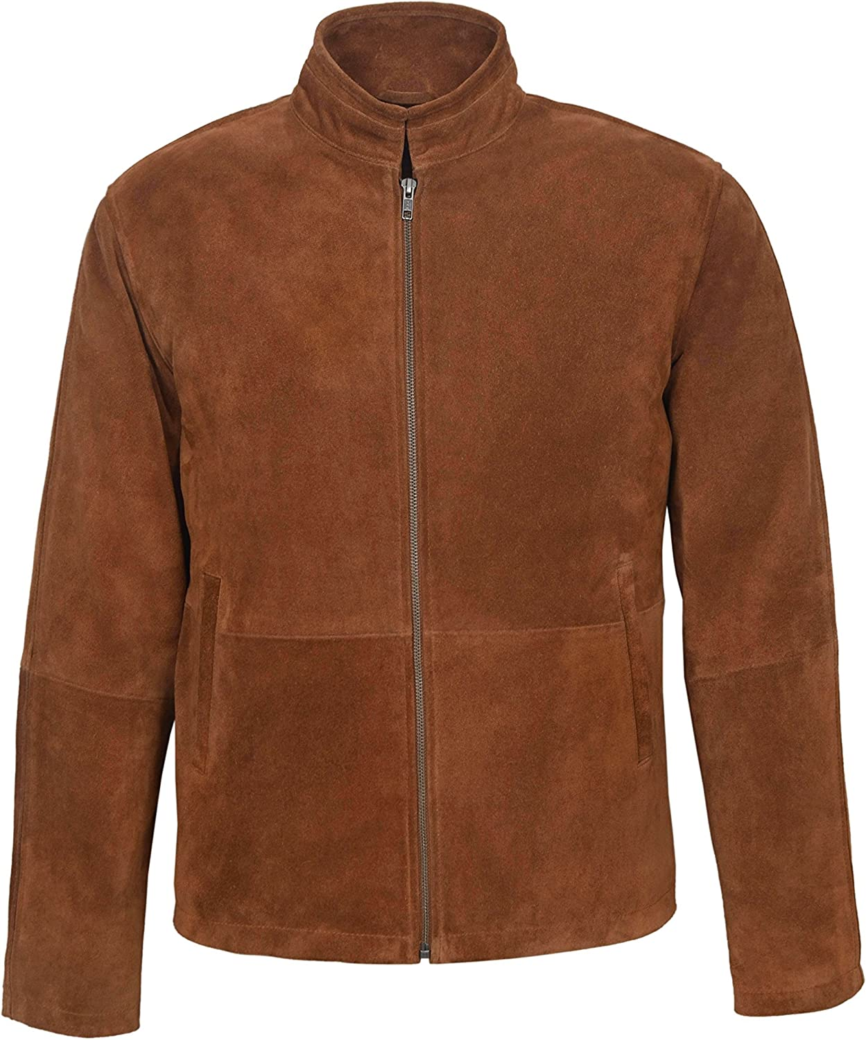 New Men's Tom Cruise Mission Impossible Tan Classic Biker Style Real Suede Leather Jacket 5917