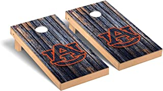Victory Tailgate Regulation Collegiate NCAA Weathered Series Cornhole Board Set - 2 Boards, 8 Bags - 600+ Teams Available