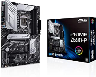 ASUS PRIME Z590-P, Scheda madre Intel Z590 ATX con PCIe 4.0, 3x slot M.2, 11 fasi DrMOS, HDMI, DP, Lan 2.5 Gb, USB 3.2 Gen...