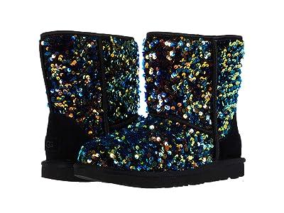 UGG Kids Classic II Stellar Sequin (Little Kid/Big Kid) (Black) Girls Shoes