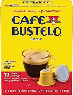 Café Bustelo Coffee Espresso Dark Roast Coffee, 40 Count Capsules for Espresso Machines,..