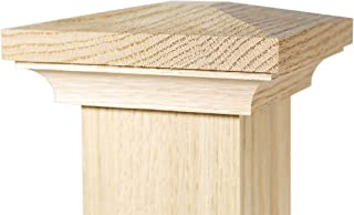 L.J Smith Stair Systems 7-1//2 x 56 Fluted Box Newel in Red Oak Model# 4291-OA