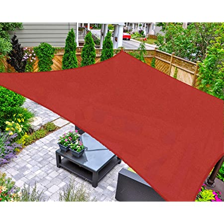 Color : Brown, Size : 1x1m CJC Shading Net Gardening Succulent Plants Anti-UV Sunscreen Balcony Patio Shade Sails Awning Canopy