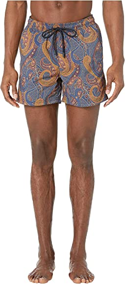 Paisley Overlay Swimsuit