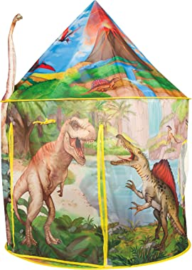 Dinosaur Play Tent Playhouse | Incredibly Realistic Dinosaur Design for Indoor and Outdoor Fun, Imaginative Games & Gift | Foldable Playhouse Toy + Carry Bag for Boys & Girls (Dinosaur Play Tent)