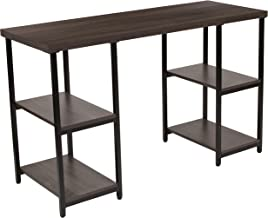 Flash Furniture Homewood Collection Driftwood Finish Console Table with Black Metal Frame