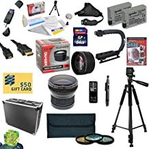 47th Street Photo All Sport Accessory Kit For the Canon Rebel T2i, T3i, T4i, T5i, 650D, 700D, Kiss X5 Kiss X4, KissX6i, Kiss X7i, EOS 550D, 600D DSLR Digital Camera - Kit Includes: 64GB High Speed SDXC Card + Card Reader + 2 Extended Life Batteries + Dual Battery Charger + 58MM Opteka HD2 0.20X Wide Angle AF Fisheye Lens + 58MM 2.2x HD2 AF Telephoto Lens + 58MM 3 Piece Pro Filter Kit (UV, CPL, FLD Lens) + HDMI Cable + Hard-Sided ABS Pro Case + Remote Control + Professional 60