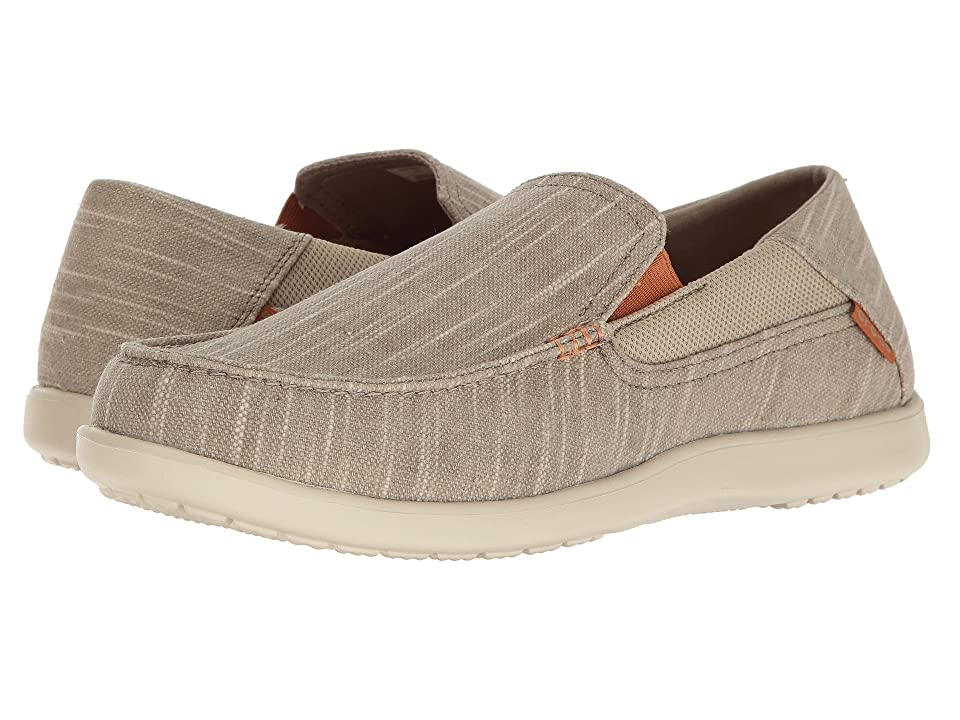 2758e2a8a11822 Crocs Santa Cruz II Luxe Slub Slip-On (Khaki Stucco) Men s Slip on Shoes