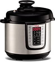 T-fal Pressure Cooker, Pressure Fryer, Programmable Pressure Cooker, 25 Programs, 6 Quart, Silver