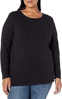Women's Plus Size Long-Sleeve Crewneck T-Shirt
