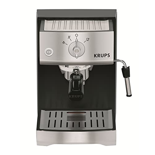 KRUPS XP5220 Pump Espresso Machine with KRUPS Precise Tamp Technology and Stainless Steel Control Panel,