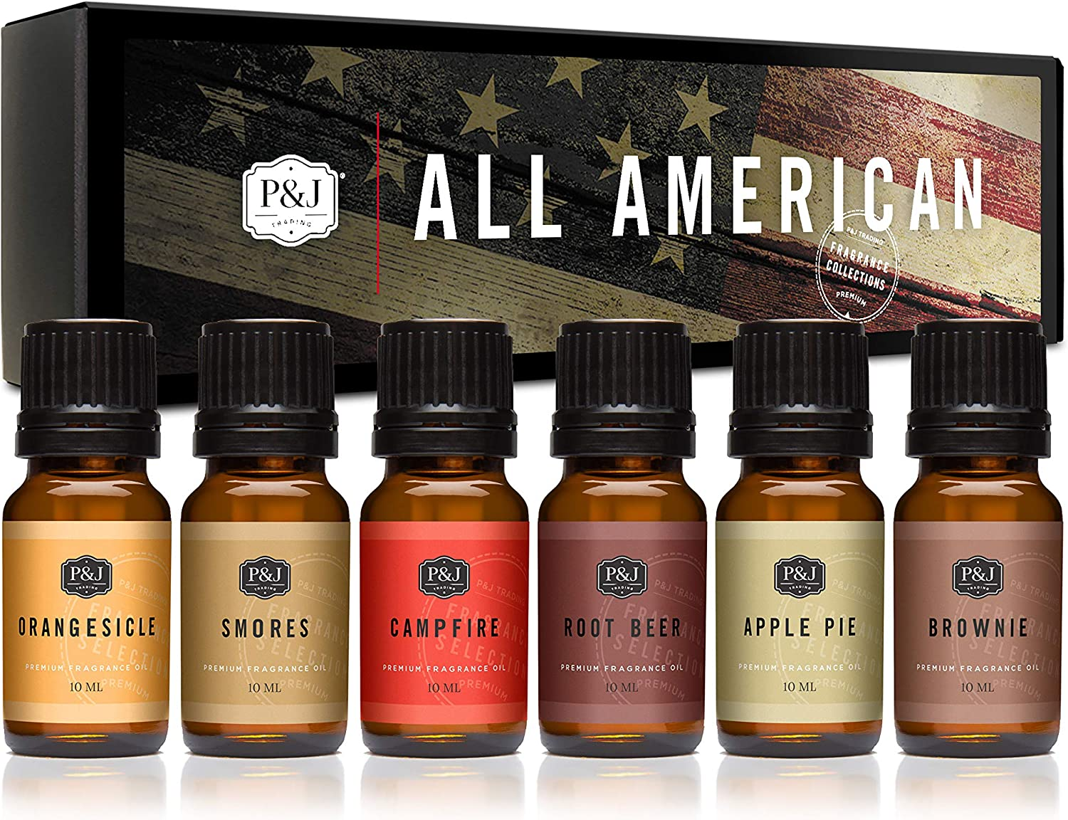 PJ Trading All- American Fragrance Oil Set Selling rankings Max 49% OFF Candle for Making S