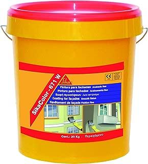 SikaColor 671W, Pintura de protección y decorativa para fachadas, 20kg, Gris