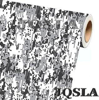 "JQSLA Digital Snow Camouflage Premium Vinyl Car Wrap Decal Film Sheet Air Channel Release Technology + Free Tool Kit (240"" x 60"" / 20FT x 5FT)"