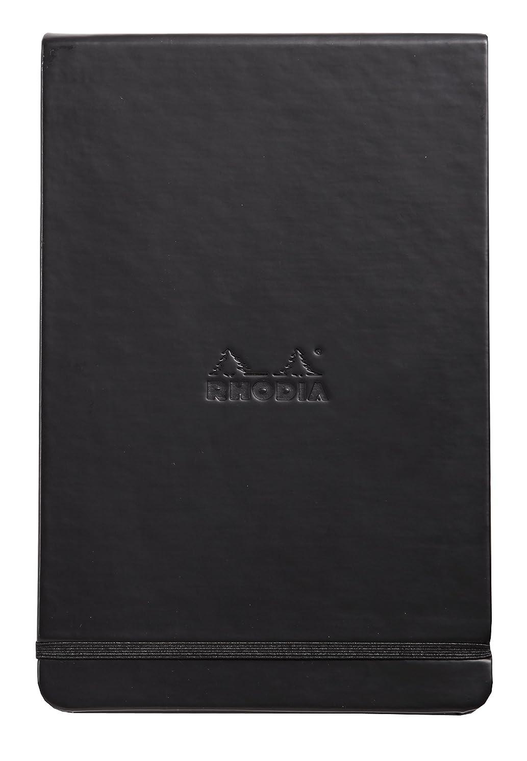 Rhodia Webnotepad Webbies - Dot Grid 96 sheets - 5 1/2 x 8 1/4 - Black Cover