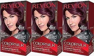 Revlon Colorsilk Beautiful Color, Deep Burgundy, 3 Count