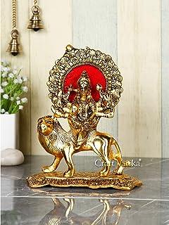 CraftVatika Durga Devi Maa Murti Showpiece Sherawali Ma Kali Decorative Statue for Navratri Home Diwali Decoration Items a...