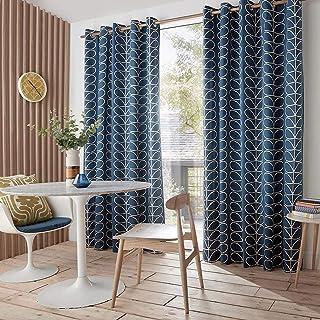 """Orla Kiely Linear Stem Whale Eyelet Curtain Size: Szerokość 228cm (90"""") x Drop 228cm (90"""")"""