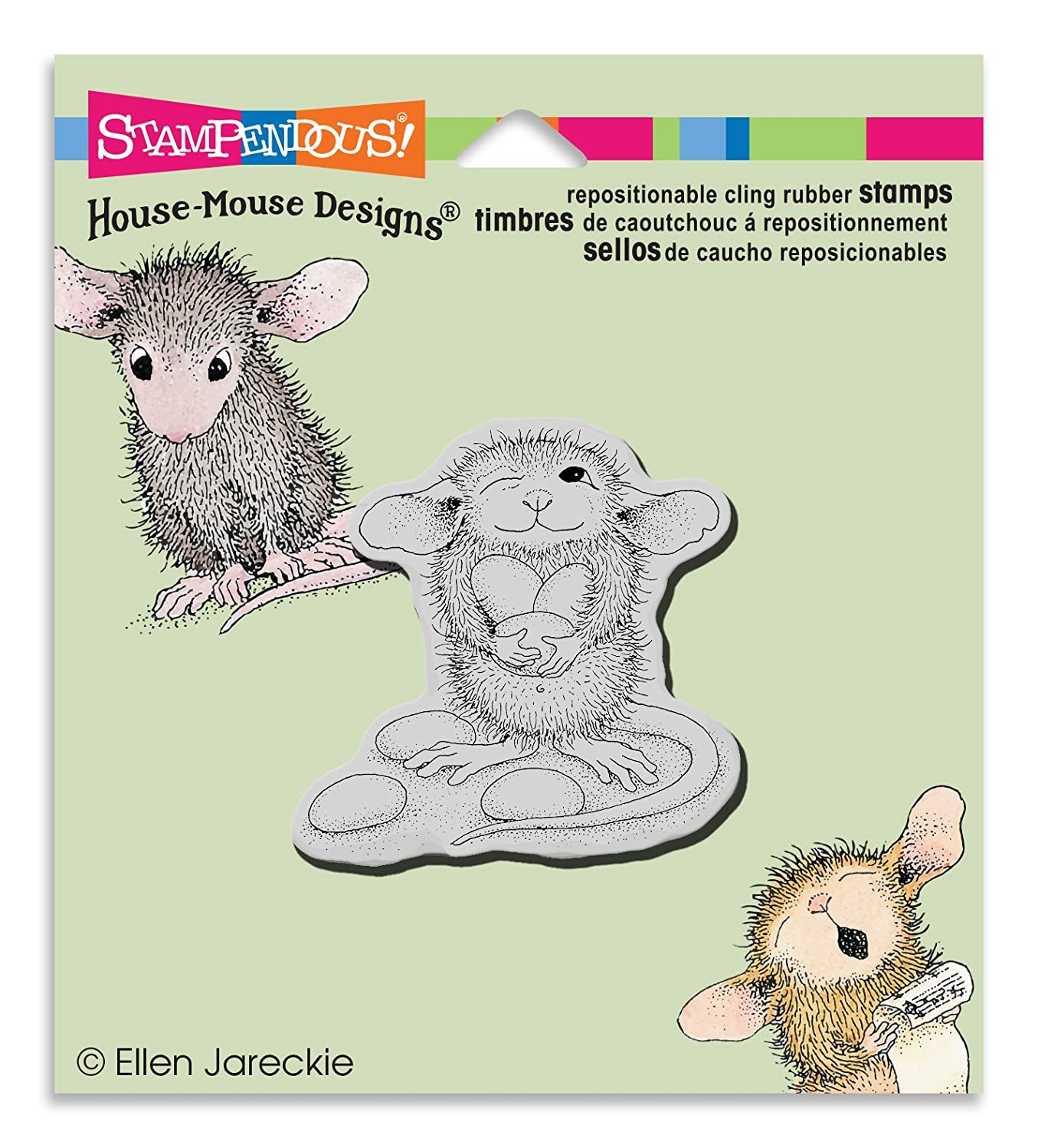STAMPENDOUS Rubber Stamp Cling Jelly Bean Thief