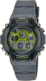 Sonata Digital Grey Dial Men's Watch -NK77006PP02
