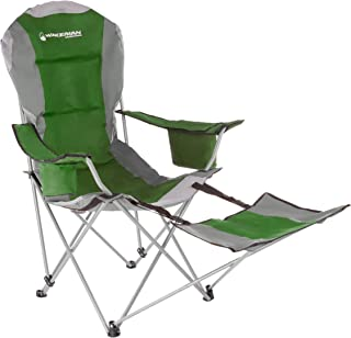 Wakeman Outdoors Camp Chair with Footrest-300lb