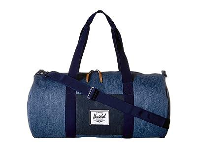 Herschel Supply Co. Sutton Mid-Volume (Faded Denim/Indigo Denim) Duffel Bags