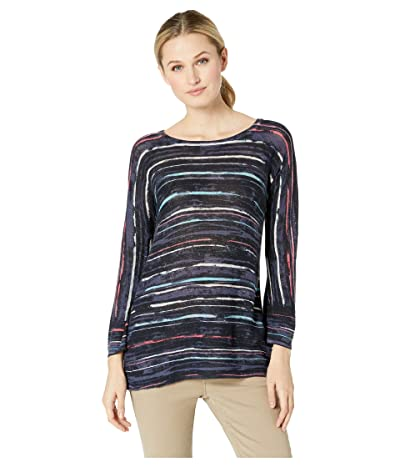 NIC+ZOE Line Up Top (Tissue Tee) (Multi) Women