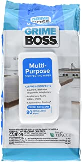 Grime Boss 80-count Multi-purpose Extra Large Disinfecting Wipes Fresh Air Scent (1pack)