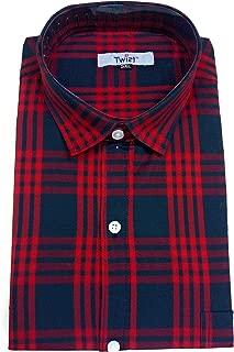 Champa Mens Italian Cotton Checkered Half Sleeve Shirt
