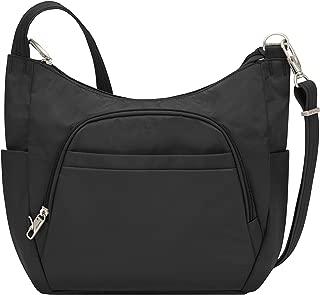Anti-Theft Cross-Body Bucket Bag, Black, One Size