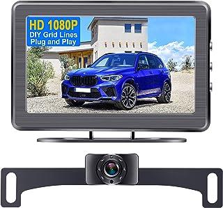Backup Camera for Car HD 1080P with LCD Monitor Rear View Camera Plug and Play System for Car Truck SUV Van IP69 Waterproo... photo
