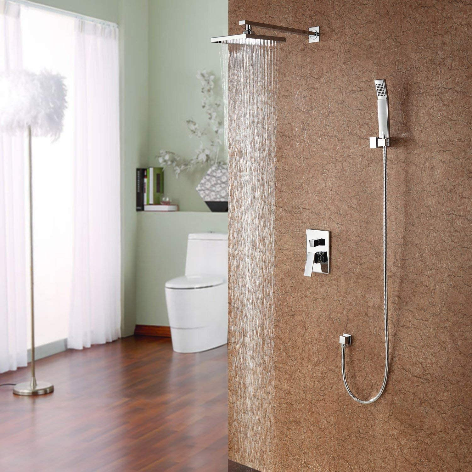 Zxy-Split Install Shower Shower Shower of Light of The Game of colors in The Wall Shower Flower of Copper