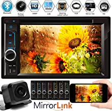 Car Radio Double Din with Backup Camera for Chevy Silverado 1500 2500 3500 2003-2006, Bluetooth, Mirror Link, AM FM Receiv...