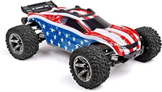 SummitLink Custom Body USA Flag Style Compatible for Rustler 4X4 1/10 Scale RC Car or Truck (Truck not Included) R4-US-01