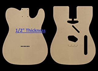 "Telecaster MDF Guitar Body Template 0.5"" thickness"