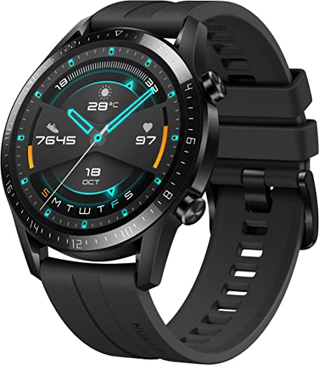 HUAWEI Watch GT 2 Smartwatch (46mm Full-Color-AMOLED, SpO2-Monitoring, Herzfrequenzmessung, Musik Wiedergabe&Bluetooth Telefonie, 5ATM wasserdicht,…