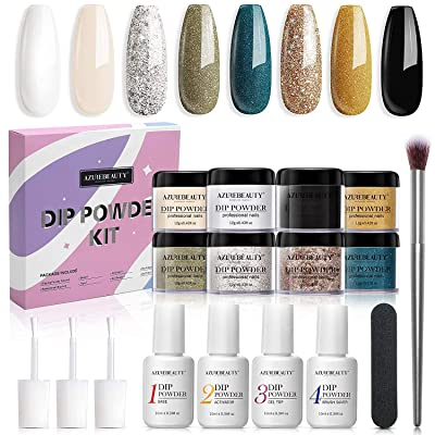 AZUREBEAUTY Turquoise Marble Colors Dipping Powder Kit System