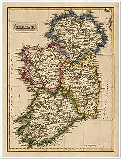 Elegant Map of IRELAND circa 1822 - measures 24