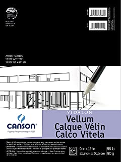 Canson Artist Series Vidalon Vellum Paper Pad, Translucent and Acid Free for Pencil, Ink and Markers, Fold Over, 55 Pound,...