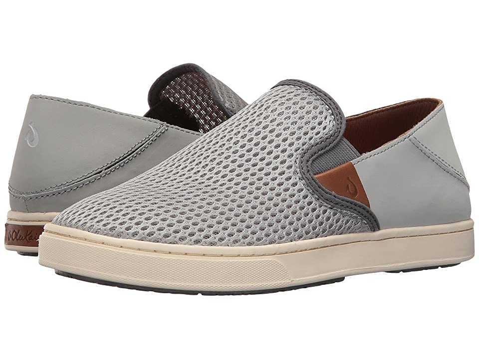 OluKai Pehuea (Pale Grey/Charcoal) Women's Slip on  Shoes