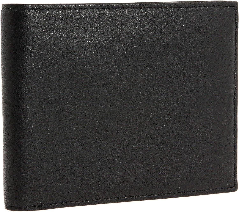 Bosca Men's Nappa Leather Executive Bifold ID Wallet Black