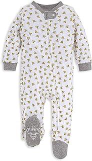 Burt's Bees Baby Boys' Sleep and Play PJs, 100% Organic Cotton One-Piece Romper Jumpsuit Zip Front Pajamas