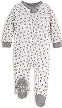 Burt's Bees Baby - Unisex Baby Sleep & Play, Organic Pajamas, NB - 9M One-Piece Zip Up Footed PJ Jumpsuit