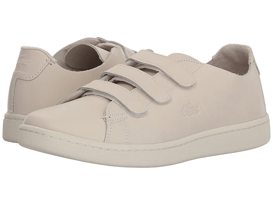 Lacoste Carnaby Strap 118 1 U (Off-White/Off-White) Women