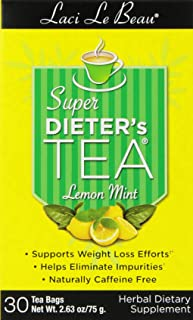 Laci Le Beau Super Dieter's Senna Tea, Lemon Mint, 30 Count Box (Pack of 4)