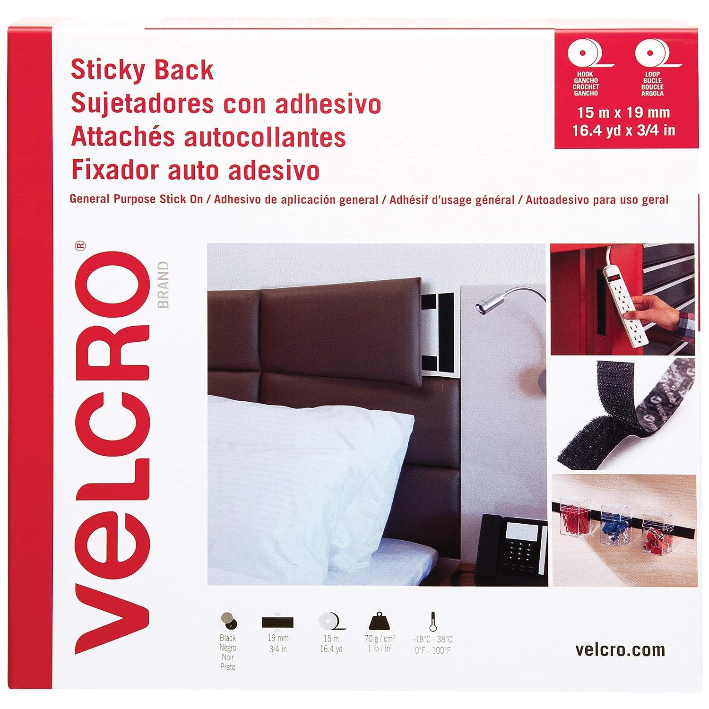 Velcro Brand Tape Combo Columbus Mall Packs 3 Black Case 50' x 4