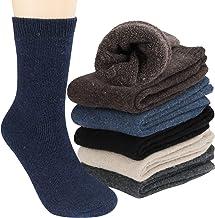 Tencoz Calcetines Lana Hombre, 6 Pairs Calcetines Hombres Invierno 39-46 Premium Calidad Calcetines de Punto Hombre Calcet...