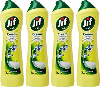 Jif Cream Cleaner Lemon, 500 ml (Pack of 4)