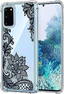 Oihxse transparante beschermhoes voor Samsung Galaxy A70/A70S, zacht TPU-siliconen, schokabsorberend, bloemen, motief bump...