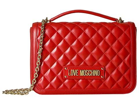 LOVE Moschino Shinny Quilted Handbag with Chain Strap